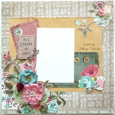 Layout Kit 3 with Kaisercraft's Needle & Thread, created by Hilary Nicholas Digital Scrapbooking Freebies, Scrapbooking Layouts, Baby Scrapbook, Scrapbook Albums, Knitted Cat, Mini Books, Flower Making, Needle And Thread, Mini Albums