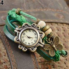 Women's Vintage Multilayer Butterfly Wrist Watch