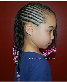 Nigerian Children Hairstyles Large Cornrows Styles For Little Girls  Little Black Girl Cornrow
