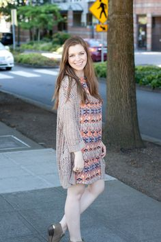 PinkBlush Shift Dress for Early Fall Outfit Inspiration / hellorigby!