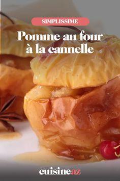 Les pommes au four à la cannelle est un dessert automnal facile à préparer. #recette#cuisine #fruit #pomme #dessert Fruit, Cantaloupe, Desserts, Food, Baked Apples, Fall Season, Recipes, Tailgate Desserts, Deserts