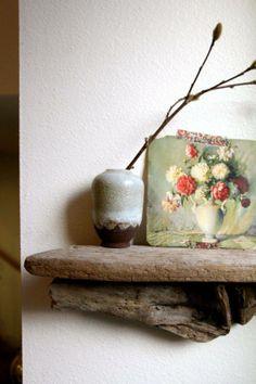 ..rustic, reclaimed wood shelves