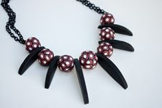 FREE TUTORIAL: Soufflé Dramatic Millefiori necklace by Syndee Holt.