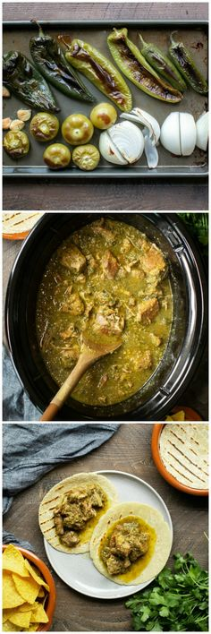 Cooker Chile Verde Slow Cooker Chile Verde — a Chili that Is beans & sauce add Oz) cans of pinto beans for a Chili with Beans. Slow Cooker Chile Verde — a Chili that Is beans & sauce add Oz) cans of pinto beans for a Chili with Beans. Crock Pot Recipes, Pork Recipes, Casserole Recipes, Cooking Recipes, Recipies, Hominy Recipes, Tomatillo Recipes, Authentic Mexican Recipes, Mexican Food Recipes