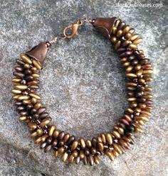 Kumihimo Beaded Bracelet - Autumn's Glow