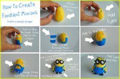 How to Create Fondant Minions