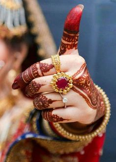 Dazzle On Your Big Day With These Beautiful Bridal Rings! Bridal Bangles, Bridal Rings, Wedding Jewelry, Wedding Rings, Gold Ring Designs, Gold Jewellery Design, Birthday Nail Designs, Birthday Nails, Birthday Design