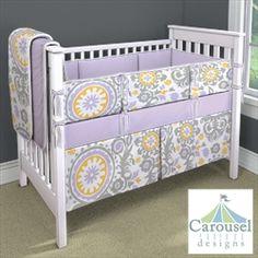 My Carousel Designs Custom Baby Bedding Purple Yellow And Grey Rooms