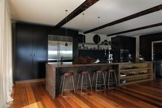 Kitchen by Patricia Stewart.  Love the matt finish on the cupboards.