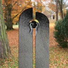 Urnengrabstein modern mit Granit Kugel - Elvino
