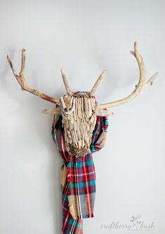 Craftberry Bush: Driftwood deer head taxidermy - One item challenge