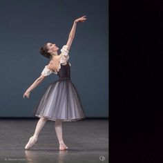 Laura Hecquet in Mozartiana choreography by George Balanchine | Ballet | Pinterest  #OperaDeParis #PalaisGarnier #LauraHecquet #Danse #Photo