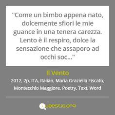 """""""Il Vento"""" (2012) #MariaGraziellaFiscato #MontecchioMaggiore #ITA #Text #Poetry #Italiano #Word https://quaestio.org/il-vento"""