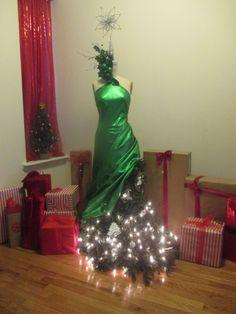 Fun Holiday Decor, DIY Christmas, Mannequin, Dress form, Dress form Christmas Tree, Holiday Decor, Christmas Tree Ideas