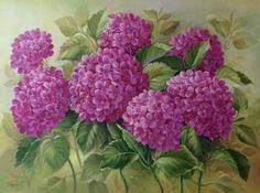 """ Hydrangeas "" Douglas Frasquetti Óleo sobre painel 60 x 90 cm Junho 2015"