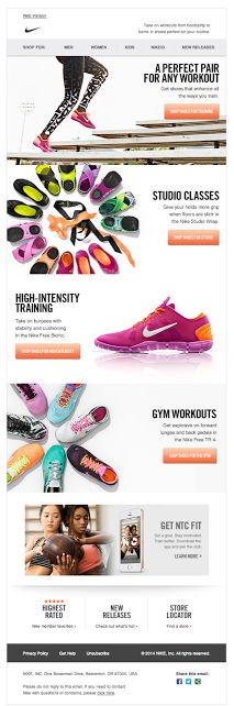 Nike email design 2014