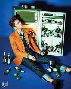 Hong Jong Hyun in Vogue Girl Korea May 2015 Look 4 A Frozen Flower, Lim Ju Hwan, Lee Hong Bin, Hong Jong Hyun, No Min Woo, Girl Korea, Girls Magazine, Yook Sungjae, Kim Woo Bin