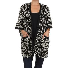 CLEARANCE 🎀 A Stitch In Time Knitted Cardigan Oversized kimono knitted sweater with Aztec designs. Two pockets in front. The perfect cold weather look! Wear with a short sleeve top on warmer days or with a long sleeve top on colder days. Very versatile. Brand new WITHOUT tags. ABSOLUTELY NO TRADES 🚫🚫 Bare Anthology Jackets & Coats