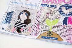 mixed media art faith journaling | Garden by Elaine Davis | Print & Pray Shop | Beloved Society |