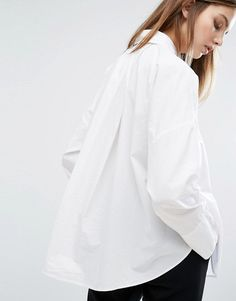 9b02be5bd1c2 Find this Pin and more on Wishlist.. Shop Weekday Wide Pleat Back Shirt ...