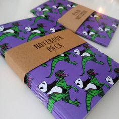 These A6 notebooks designed by Jurassic Panda are made from recycled paper, with 48 pages of paper for your wonderful notes or doodles - in this pack you will receive one plain, one squared, one lined and one dotted notebook. This notebook set would make a great gift for a friend or loved one, it's perfect for anyone at school, college or university and the notebooks size means that they can be easily popped in a bag or rucksack.