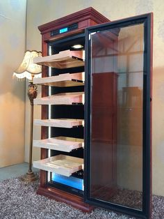 Touch Screen Climate Controlled Cigar Humidor Cabinet - the dream Cigar And Whiskey Party, Cigar Bar, Cigar Humidor Cabinet, Cohiba Cigars, Cigar Cases, Premium Cigars, Cigar Accessories, Cigar Room, Cigars