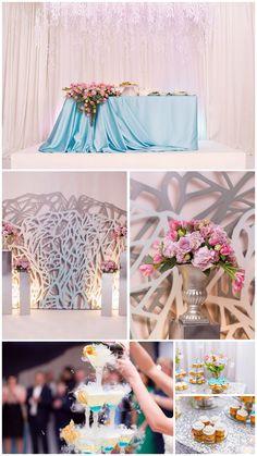 свадьба в мурманске декор голубой белый розовый фотозона wedding decor