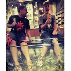 Throwback. Alfredo and Justin.