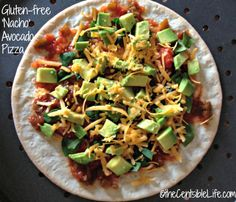 Gluten Free Avocado Pizza