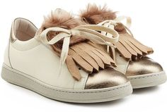 Pin for Later: Your 5-Year-Old Self Would Have Really Loved This Sneaker Trend  Brunello Cucinelli Leather Sneakers With Fur ($1,195)