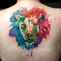 Artist Russell Van Schaick in Orlando, Florida, - Watercolor Tattoo Lion. Artist Russell Van Schaick in Orlando, Florida, - Watercolor Elephant Tattoos, Watercolor Tattoo Artists, Watercolor Cat, Tattoo Girls, Trendy Tattoos, Unique Tattoos, Lion Head Tattoos, Lioness Tattoo, Aquarell Tattoos
