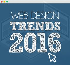 Web Design Trends in 2016 #trends2016 #webdesigntrends #webdesign