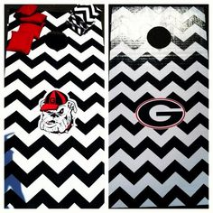 Georgia Bulldogs Chevron Cornhole Boards