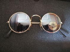 OCCHIALI DA SOLE semiargentati Stile Retro Vintage 70s Accessori Hippie Tondi 3