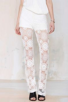 Raga Lovely Lace Flare Pants