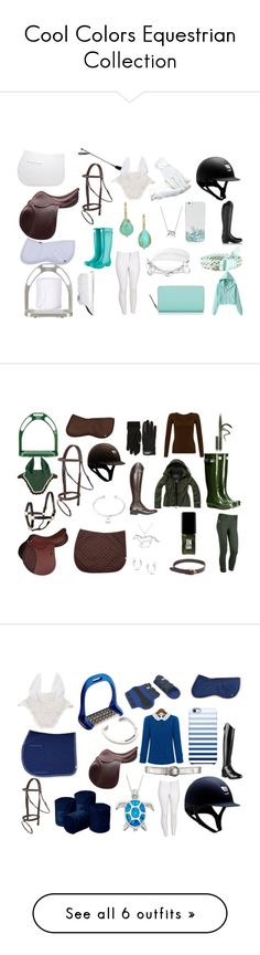 """Cool Colors Equestrian Collection"" by equestrierin ❤ liked on Polyvore featuring Ariat, OTM, Bling Jewelry, Alex Woo, Kate Spade, Lena Skadegard, Alberto Fasciani, Gemma J, Coolmax and WearAll"
