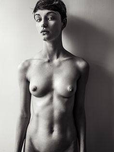 Nude androgynous Rejecting the