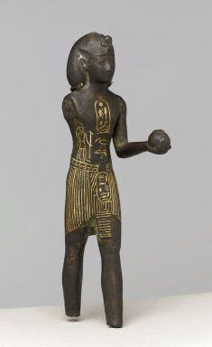 Brooklyn Museum: Egyptian, Classical, Ancient Near Eastern Art: King Osorkon I  Bronze, gold Place Found: Shibin el Qanatir, Egypt Dates: ca. 924-889 B.C.E. Dynasty: XXII Dynasty Period: Third Intermediate Period