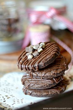 Minty Triple Chocolate Cookies - if you're a fan of the mint + chocolate combination, you will love these cookies!