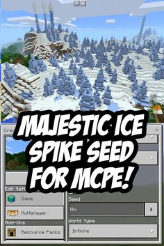 Majestic, snowy ice spike seed for Minecraft PE. Seed: lilx 0.13 -> 1.0+