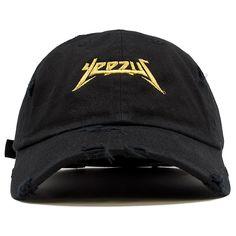 Yeezus Black Gold Edition Vintage Distressed Dad Hat b5ccdd014f37
