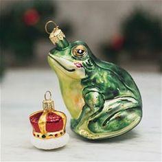 Prince Frog German Glass Christmas Ornament The Cottage Shop
