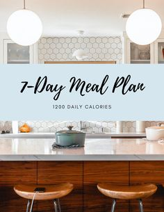 Download this 7-Day Meal Plan, 1200 Calories from dietitian Samantha Shuflin. Includes grocery list and substitutions.