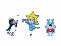 東京スカイツリー公式キャラクターのソラカラちゃん(中央)と、「テッペンペン」(左)、「スコブルブル」(右) (c)TOKYO-SKYTREE