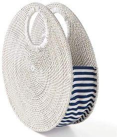 Mark And Graham Circle Rattan Handbag Bag Crochet, Crochet Handbags, Rattan, Gift Baskets For Women, Creative Bag, Monogram Shop, Diy Clutch, Basket Bag, Perfect Gift For Mom