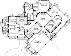 Master Suite with Exercise Room - 16837WG   European, Mediterranean, Spanish, Luxury, 1st Floor Master Suite, CAD Available, Jack & Jill Bath, MBR Sitting Area, Media-Game-Home Theater, PDF, Split Bedrooms, Wrap Around Porch, Corner Lot   Architectural Designs