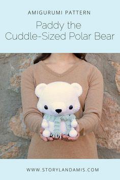 PATTERN: Cuddle-Sized Polar Bear Amigurumi Crocheted Teddy