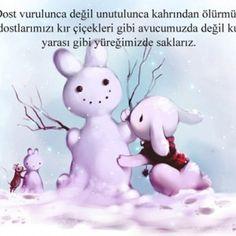 Dostluk Sözleri - Anlamlı ve resimli Dostluk Sözleri 47 Smurfs, Panda, Snowman, Disney Characters, Fictional Characters, Snoopy, Teddy Bear, Toys, Animals