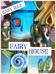 Easy D.I.Y Fairy house made from $1 birdhouse
