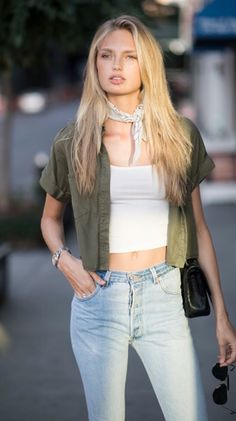 Bandana's are the ideal form and size to be used for a variety of things. A youngster's bandana generally measures abou… Top Models, Swedish Women, Irina Shayk, Taylor Hill, Madrid, Fashion Models, Fashion Trends, Celebrity Look, Cool Street Fashion